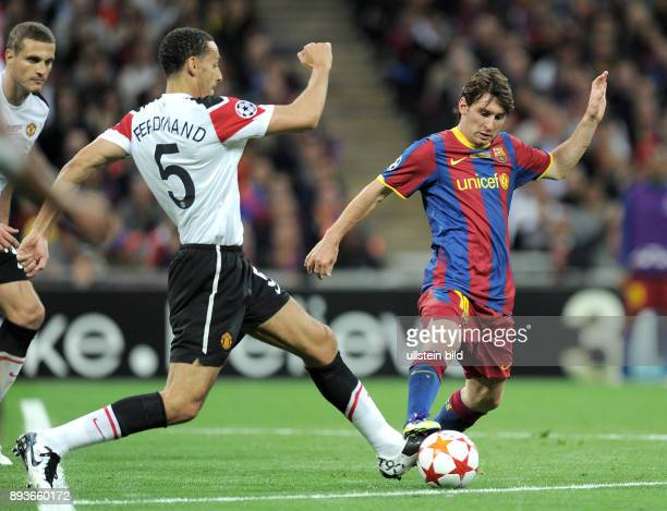 Barcelona - Manchester United FC Rio Ferdinand gegen Lionel Messi