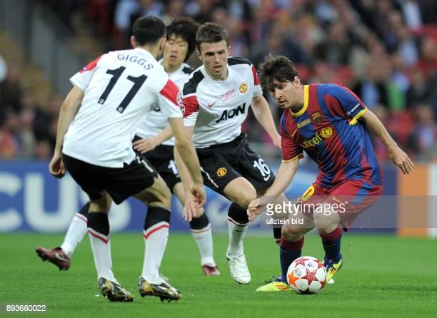Barcelona - Manchester United FC Ryan Giggs gegen Michael Carrick gegen Lionel Messi