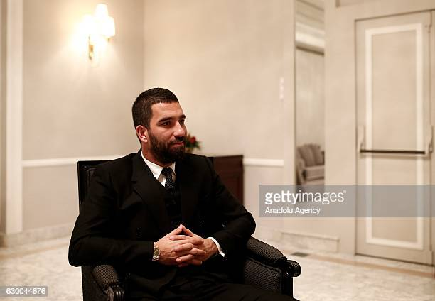 Barcelona midfielder Arda Turan gives an exclusive interview for Anadolu Agency in Madrid Spain on December 15 2016