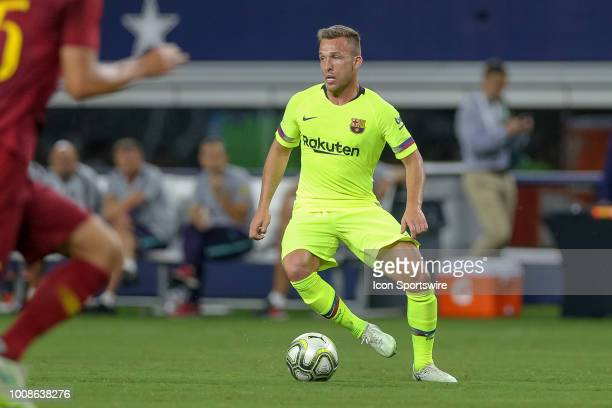 Barcelona midfielder Arthur Melo controls the ball during the International Champions Cup between FC Barcelona and AS Roma on July 31 2018 at ATT...