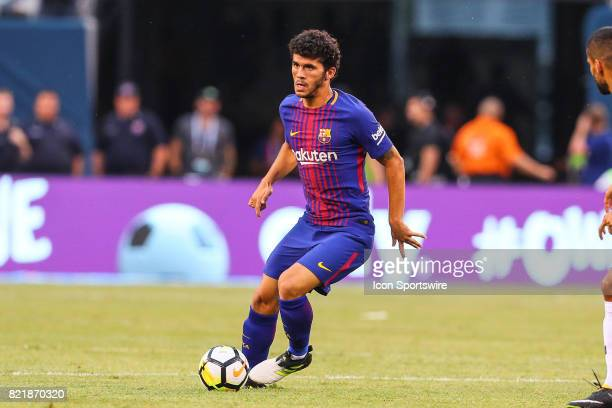 Barcelona midfielder Carles Alena during the second half of the International Champions Cup soccer game between Barcelona and Juventus on July 22 at...