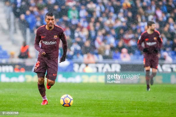 FC Barcelona midfielder Paulinho during the match between RCD Espanyol vs FC Barcelona for the round 22 of the Liga Santander played at Cornella El...