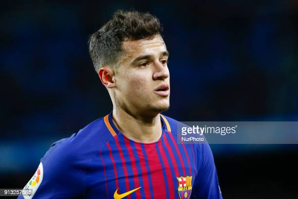 Barcelona midfielder Philippe Coutinho during the match between FC Barcelona vs Valencia of the Spanish King's Cup Semi Final played at Camp Nou...