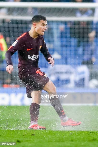 FC Barcelona midfielder Philippe Coutinho during the match between RCD Espanyol vs FC Barcelona for the round 22 of the Liga Santander played at...