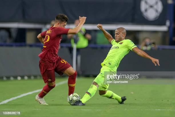Barcelona midfielder Rafael Alcantara 'Rafinha' challenges AS Roma forward Stephan El Shaarawy for the ball during the International Champions Cup...