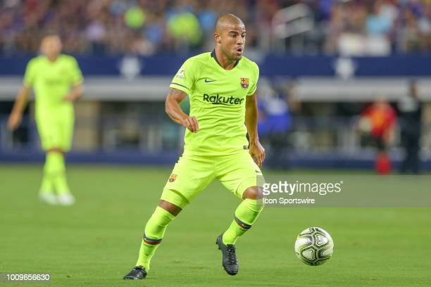 Barcelona midfielder Rafael Alcantara 'Rafinha' controls the ball during the International Champions Cup between FC Barcelona and AS Roma on July 31...