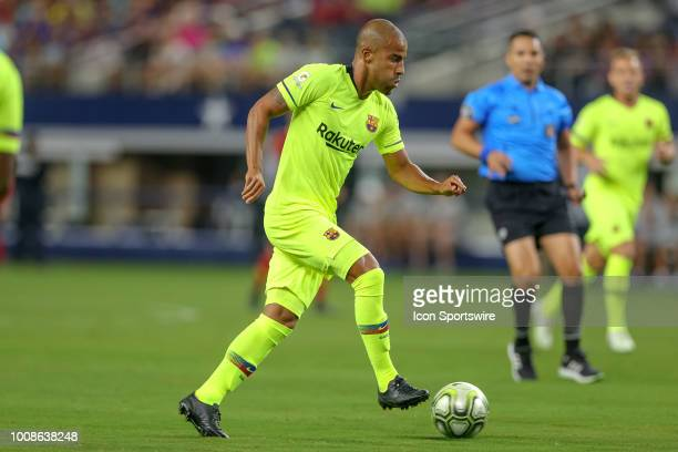 Barcelona midfielder Rafael Alcantara 'Rafinha' sets up for a shot during the International Champions Cup between FC Barcelona and AS Roma on July 31...