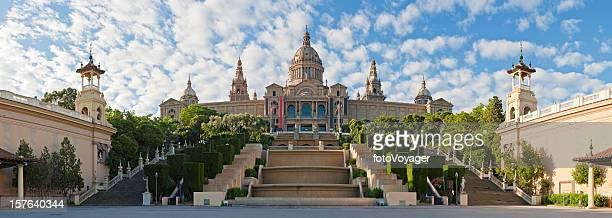Barcelona Museu Nacional d'Art de Catalunya MNAC panorama Montjuïc Spain