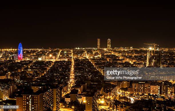 Barcelona Night City Lights