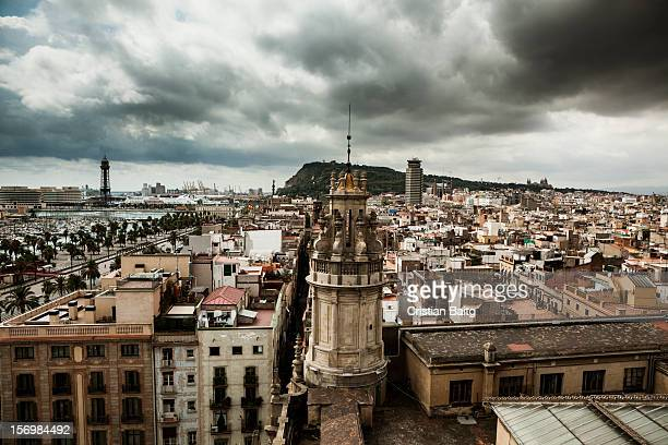 Barcelona old Gothic and Raval quarter Catalonia Spain