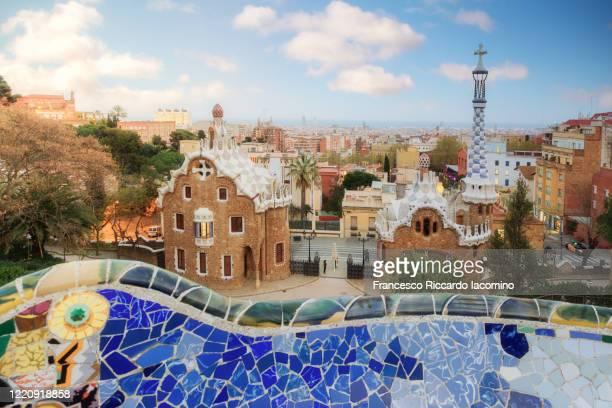 barcelona, parc guell at afternoon, spain, europe - francesco riccardo iacomino spain foto e immagini stock