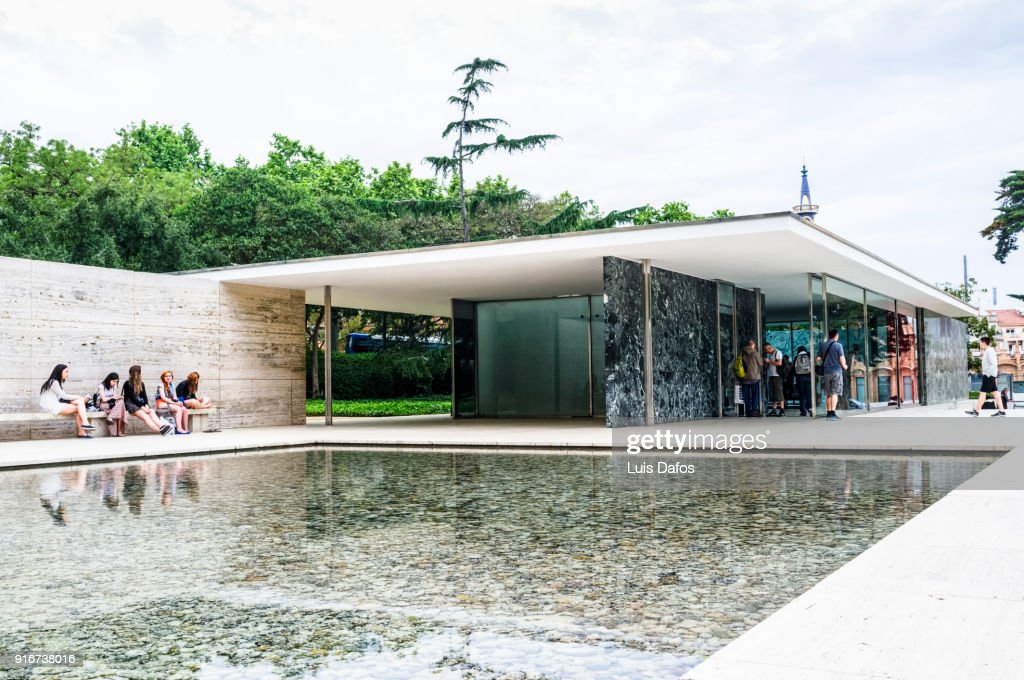 Barcelona Pavilion By Mies Van Der Rohe Stock Foto Getty Images