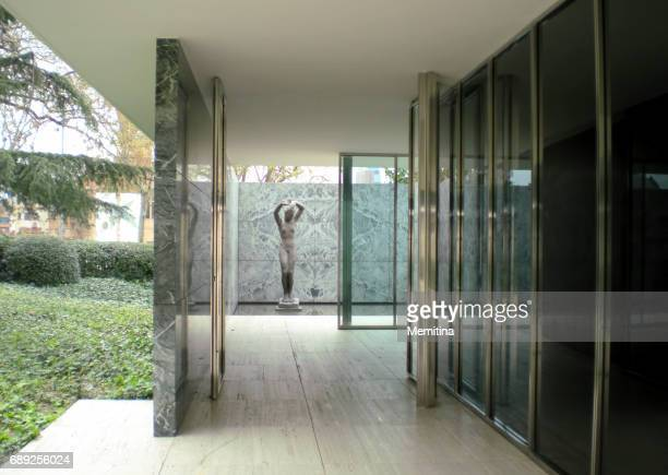 barcelona pavilion - pavilion stock pictures, royalty-free photos & images