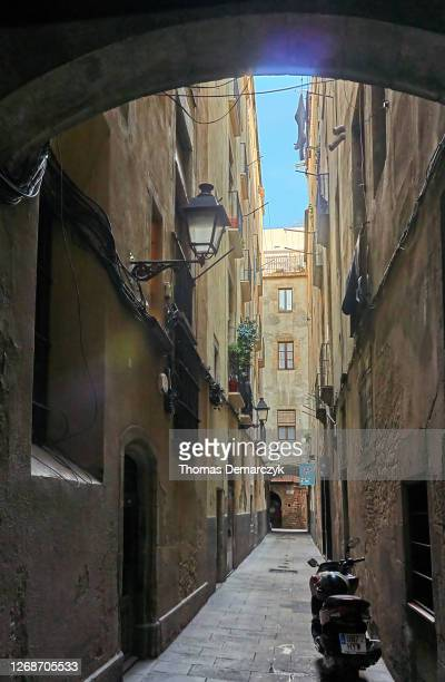 barcelona - old town stock pictures, royalty-free photos & images
