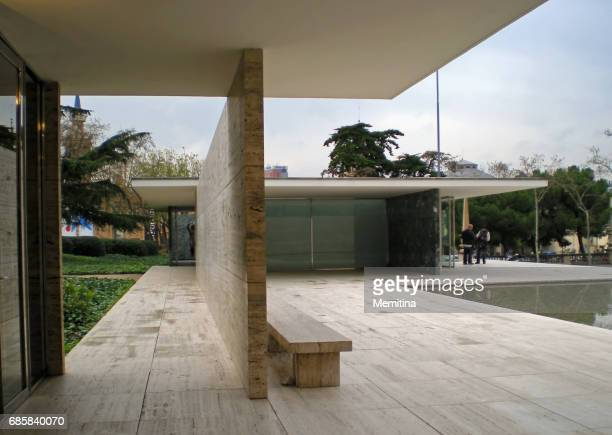 barcelona - pavilion stock pictures, royalty-free photos & images