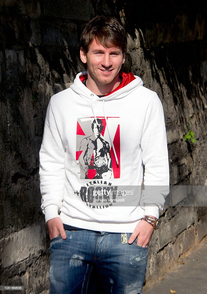 FC Barcelona player Lionel Messi is sighted during a shopping trip in Milan on October 11, 2010 in Milan, Italy.