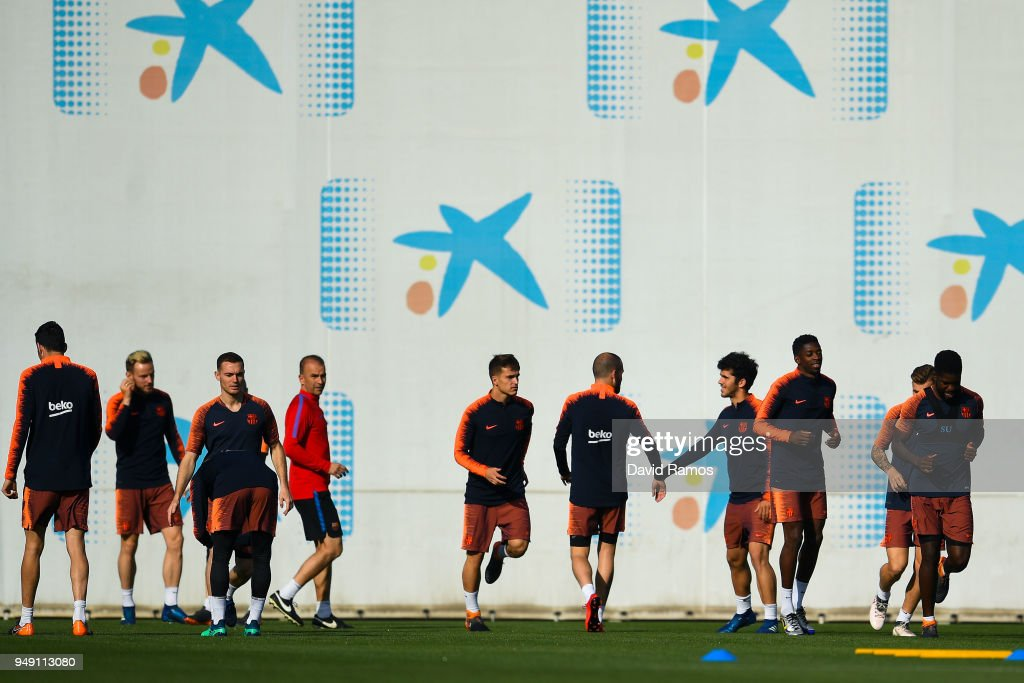 Barcelona Training and Press Conference