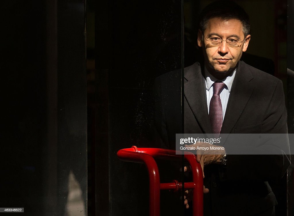 FC Barcelona President Josep Maria Bartomeu Arrives At Madrid High Court : News Photo