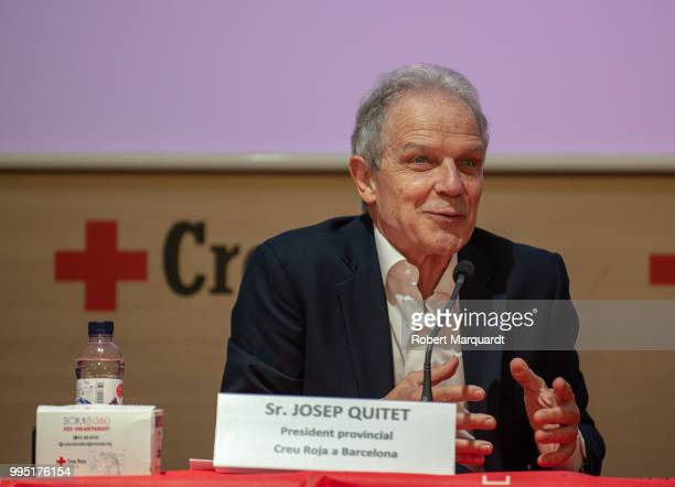 Barcelona Red Cross president Josep Quitet attends a press conference for the SHARE festival at the Red Cross office on July 10 2018 in Barcelona...