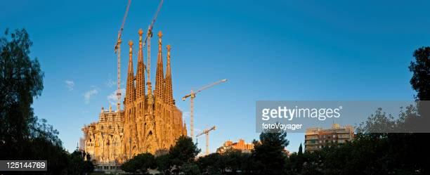 Barcelona Sagrada Familia Gaudi cathedral sunrise Spain