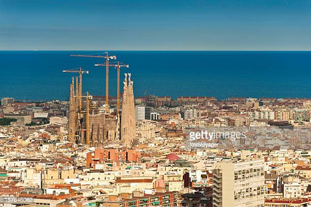 Barcelona Sagrada Familia iconic Gaudí cathedral L'Eixample Mediterranean Ocean Spain