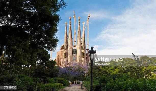 Barcelona, der Sagrada Família von Gaudí L'Eixample Sommer-panorama Katalonien, Spanien