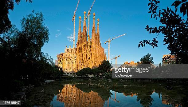 Barcelona, der Sagrada Família von Gaudí verzierten Wahrzeichen Kirche, die von Katalonien, Spanien