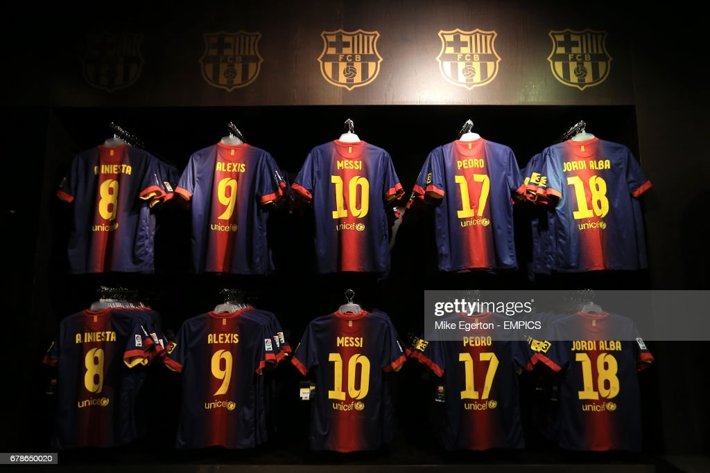 official photos 9ede5 61206 Barcelona shirts on sale in the Club shop at the Nou Camp ...