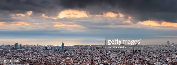 Barcelona skyline, Catalonia, Spain