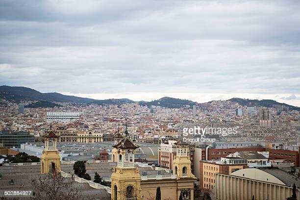 Barcelona skyline seen from Montjuic.