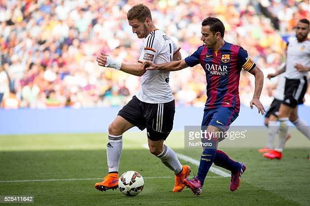 Barcelona Spain April 18 Barcelona's Xavi Hernandez during the spanish liga match between FC Barcelona and Valencia CF at Camp Nou on April 18