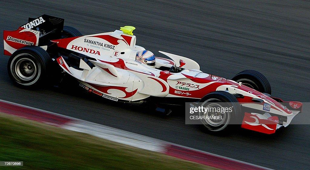 Super Aguri Formula One driver Anthony D : News Photo