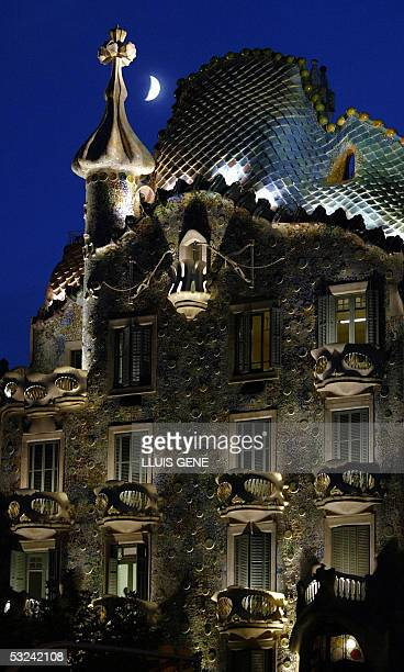 This file picture taken 01 October 2003 shows the 'Casa Batllo' in Barcelona totally renovated by Art Nouveau architect Gaudi between 1904 and 1906...