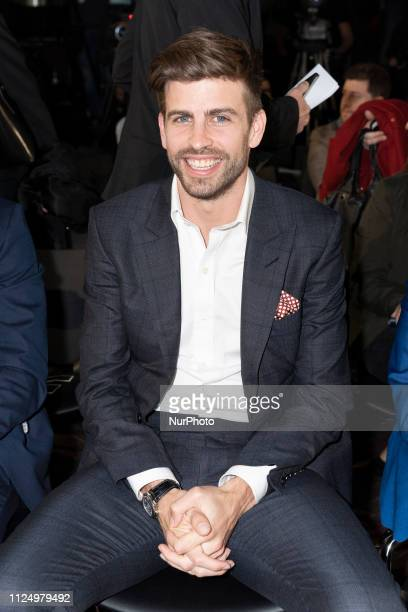 Barcelona Spanish defender and Kosmos president Gerard Pique attend the draw for the 2019 Davis Cup tennis finals in Madrid on February 14 2019