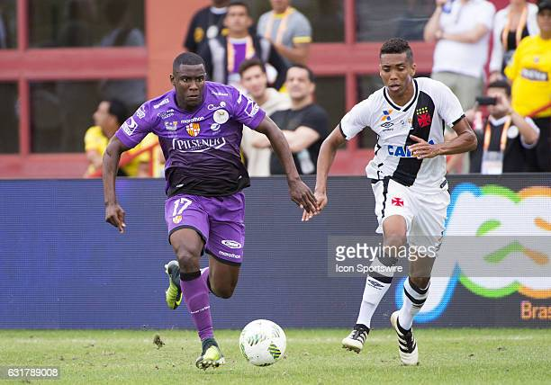 Barcelona Sporting Club Midfielder Marcos Caicedo and Vasco Da Gama Right Back Madson Ferreira during the Florida Cup Challenge quarter final soccer...