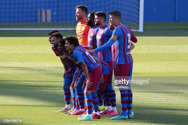 Barcelona team during the friendly match between FC Barcelona and Club Gimnastic de Tarragona, played at the Johan Cruyff Stadium on 21th July 2021,...