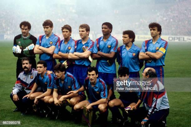Barcelona team group including Gary Lineker