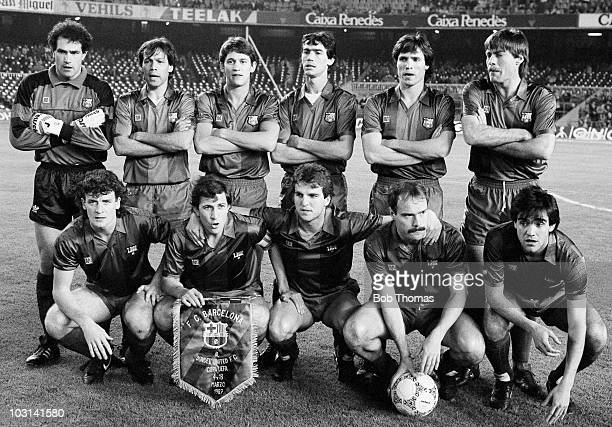 Barcelona team group prior to their UEFA Cup quarterfinal 2nd leg match against Dundee United held at the Nou Camp Stadium Barcelona on 18th March...