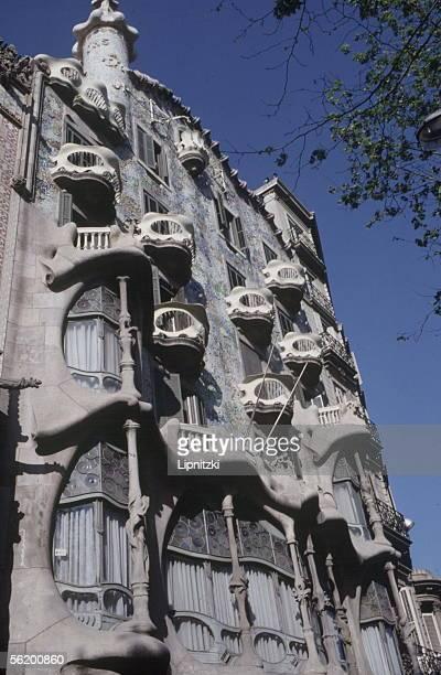 Barcelona The casa Battlo by the architect Antonio Gaud y Cornet
