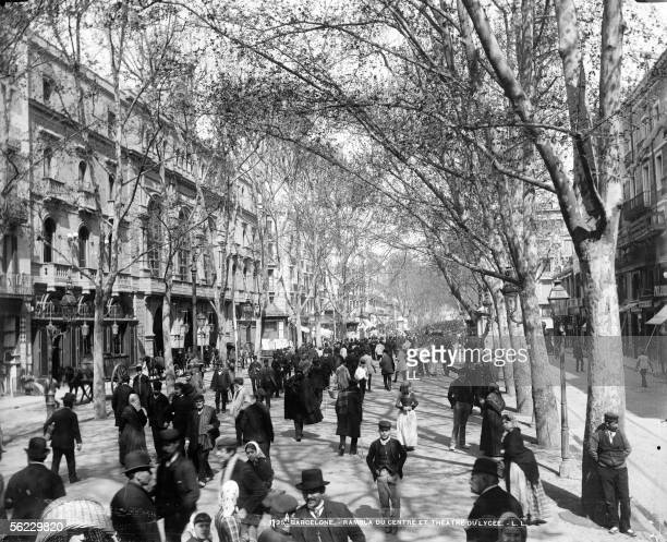 Barcelona The rambla del Centro and the theater del Liceu LL1125A