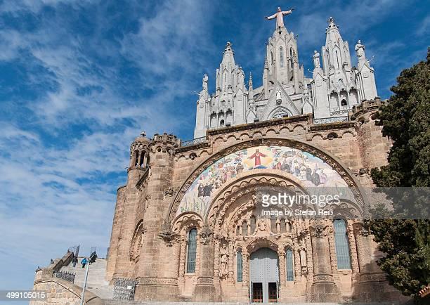 barcelona - tibidabo church sagrat cor - sagrat cor stock pictures, royalty-free photos & images