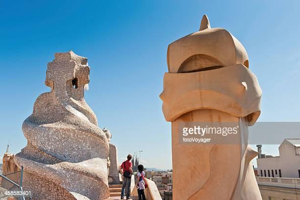 Turistas en Barcelona Gaudí de La Pedrera España