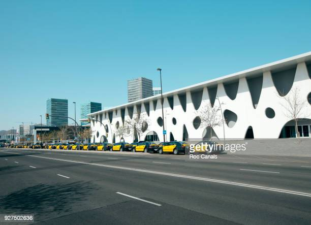 barcelona, toyo ito - fira de barcelona stock pictures, royalty-free photos & images