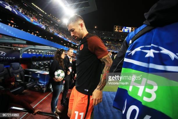 Barcelona v Manchester City UEFA Champions League Group C Camp Nou Stadium Manchester City's Aleksandar Kolarov pre match