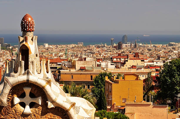 Barcelona, view from park Guell