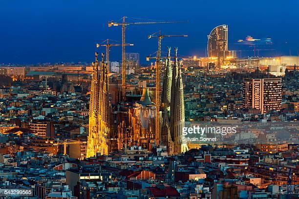 Barcelona, view of the Sagrada Familia