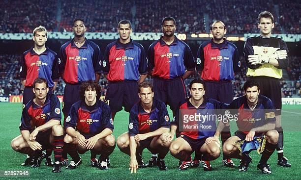 LEAGUE 99/00 Barcelona/ESP FC BARCELONA HERTHA BSC BERLIN 31 hintere Reihe vlnr GABRI Patrick KLUIVERT RIVALDO Winston BOGARDE ABELARDO Fernandez...