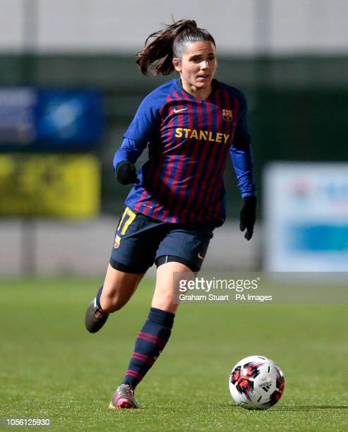 Barcelona's Andrea Pereira playing against Glasgow City during the UEFA Women's Champions League round of sixteen second leg match at Petershill Park...