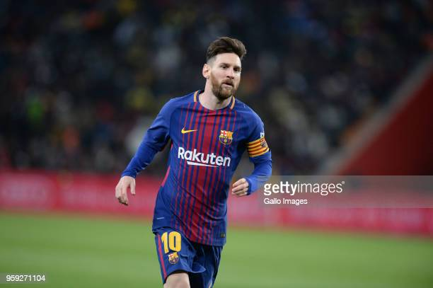 Barcelona's Argentine soccer star Lionel Messi during the International Club Friendly match between Mamelodi Sundowns and Barcelona FC at FNB Stadium...