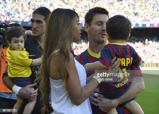 lionel messi and his wife stock photos and pictures getty images. Black Bedroom Furniture Sets. Home Design Ideas